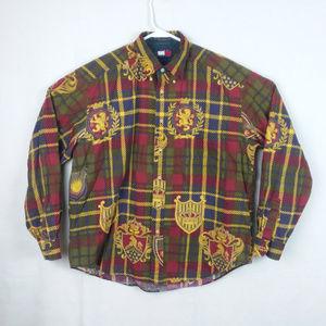 Tommy Hilfiger Lion Crest Plaid Shirt Large